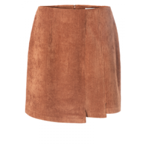 YAYA rib cord mini skirt rust
