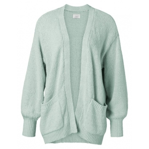 YAYA Slub yarn cardigan powder blue
