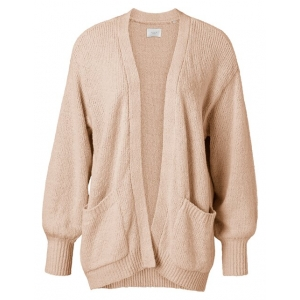 YAYA Slub yarn cardigan faded rose