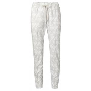 YAYA Jersey jogger pants with floral print pebble