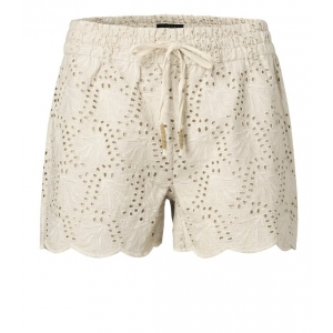 YAYA Shorts with broderie anglaise pebble