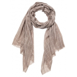YAYA Recycled fabric scarf beige