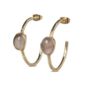 YAYA Hoop earrings with stones gold