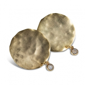 YAYA Earrings with coin and charm gold