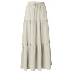 YAYA Romantic maxi skirt bleached sand
