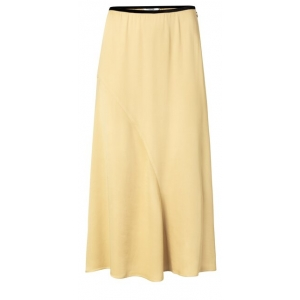 YAYA Satin A-line skirt croissant