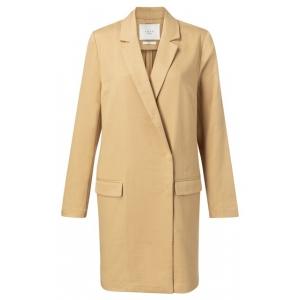 YAYA Cotton loose fit long jacket croissant
