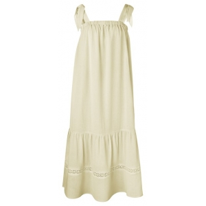 YAYA Voluminous maxi dress summer sand