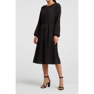 YAYA drapy dress with pleats