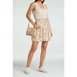 YAYA Printed mini skirt sheer pink dessin
