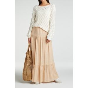 YAYA pointelle stitch sweater bleached sand