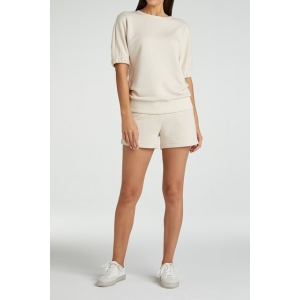 YAYA Jersey short with ruffle and elastic waistband sheer bliss