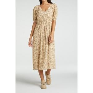 YAYA Printed maxi dress wheat dessin