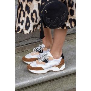 DWRS BRISBANE - Sneakers - Wit / Cognac