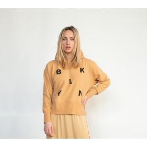 Penn & Ink  hoodie print F869 cinnamon
