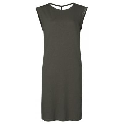 YAYA Linnen blend jersey jurk met detail op rug