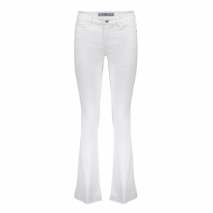 Geisha flair ragged bottom white