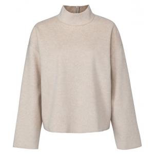 YAYA Soft sweater with turtleneck cement melange