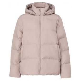 YAYA Short puffer jacket with detachable hood soft sand