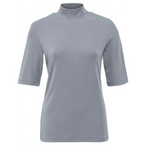 YAYA High neck rib top silver filigree grey