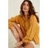 YAYA Lace-embellished blouse in cotton