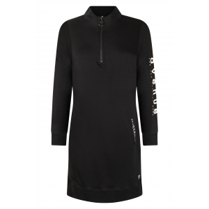 Zoso sporty tunic/dress techprint black off white
