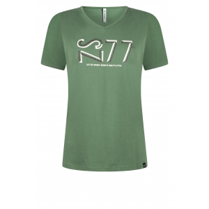Zoso t shirt with print off white green