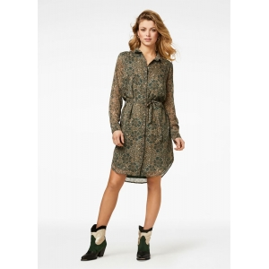 Freebird Amina - Green Mini dress long sleeve
